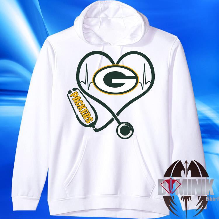 Green Bay Packers Heart Nurse Shirt hoodie