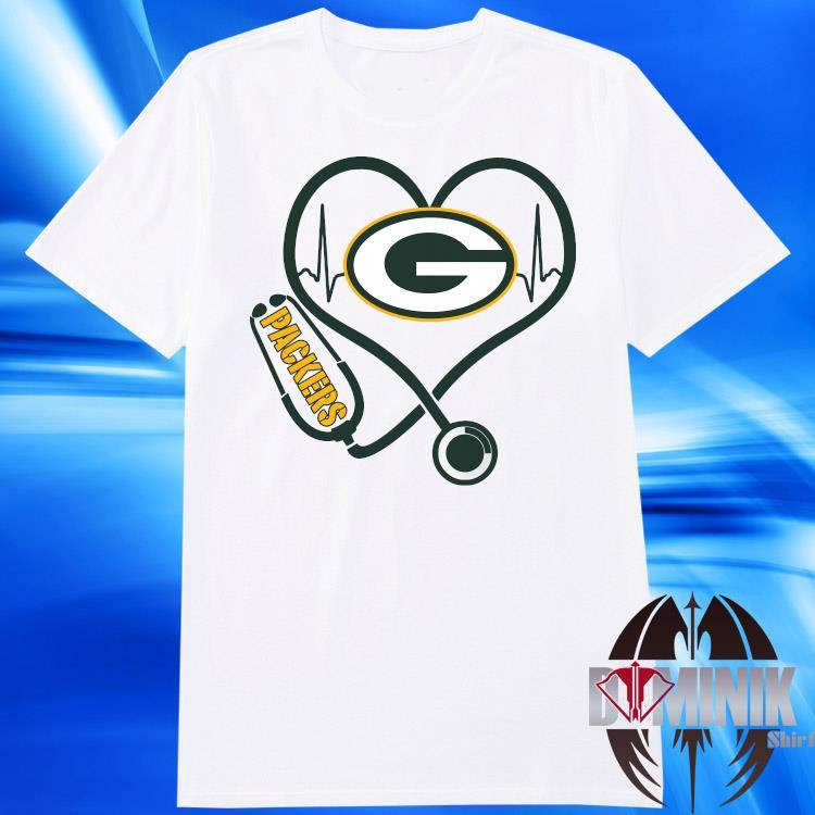Green Bay Packers Heart Nurse Shirt